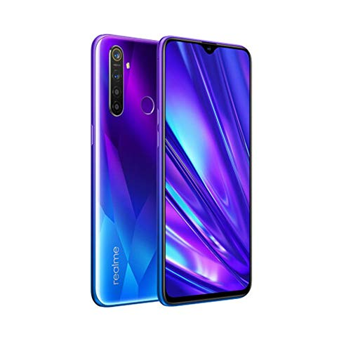 realme 5 Pro Smartphone Handy, 6,3 Zoll 8 GB RAM 128 GB ROM Snapdragon 712 AIE Octa Core 48 MP AI Quad-Kamera 4035 mAh, Dual-SIM, EU Version (Blau)