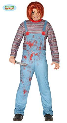 Fiestas Guirca Kostüm Assassina Chuckie Adult, Blau / Rot, L, ()