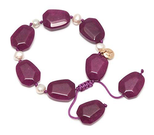 mainline-orient-haze-nugget-blackberry-quartzite-white-pearl-bracelet-of-length-7-10cm