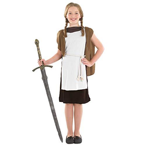 Kinder Viking Kostüm - Fun Shack FNK2499XL Kostüm, Girls, Viking Dress, XL