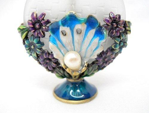 StealStreet SS-A-51620 Crystal Jewel Parfümflasche Designer Accessoire, Ocean Shell