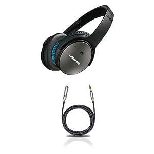 Bose QuietComfort 25 Kopfhörer (mit Oehlbach XXL I-Jack Ex 63 Kopfhörerkabel-Verlängerung) schwarz