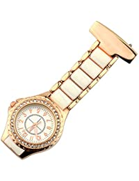 EATHGL Rhinestone Nurse Table Reloj de Bolsillo Vintage Doctor Paramédico  Túnica Reloj de Bolsillo Reloj de 0bcd8102098e