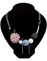 Damen Handgemachter Harz Holz Hängende Halsketten Mädchen Freizeit Geschenke