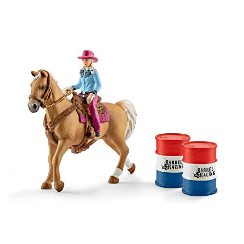 Preisvergleich Produktbild Schleich 41417 - Barrel racing mit Cowgirl - Spielzeug