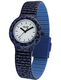 Reloj de Mujer Pop Jungle Leopardo Azul hwu0934 Hip Hop
