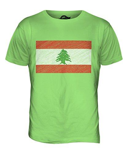 CandyMix Libanon Kritzelte Flagge Herren T Shirt Limettengrün