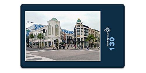 hansepuzzle 19027 Orte - Beverly Hills, 130 Teile in hochwertiger Kartonbox, Puzzle-Teile in wiederverschliessbarem Beutel.