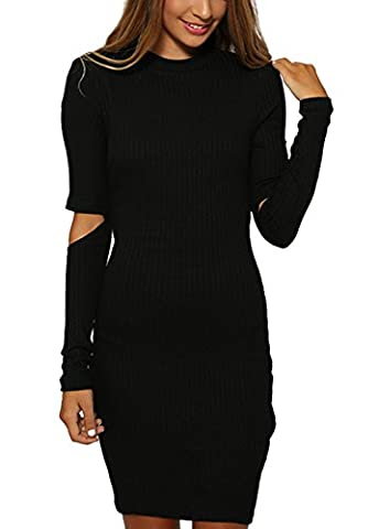 Wink Gal Women's Long Sleeve Stretch Ribbed Knit Sweater Jumper