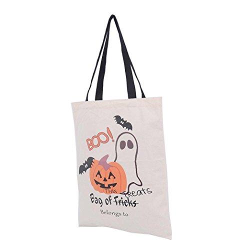 Sacchetto di Halloween, Longra borsa di tela halloween 36cm × 44cm E