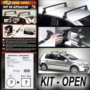 Superauto Kit + Barres de Toit Railing Open Ford Fiesta 3 Portes 1989 > 2002 ; Renault Clio 5 Portes 1998 > 2005
