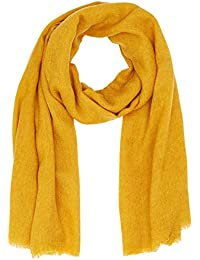 New Look Plain Scarf, Ensemble Bonnet, écharpe et Gant Femme, (Dark Yellow f0c2afc7d66