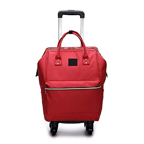 TONGSH Gepäck Rolling Shopper Tote Laptop Rollrucksack Erweiterbar Hand Wasserdicht Flight Bag Gepäck Trolley Koffer Flight Cabin Universal Wheel Suitcase (Color : Red) -