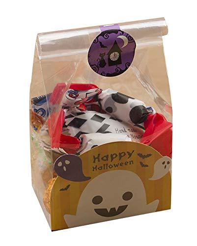 Black Temptation Packung mit 50 süßen Süßigkeiten Wrapper Cookie Taschen für Halloween, G3
