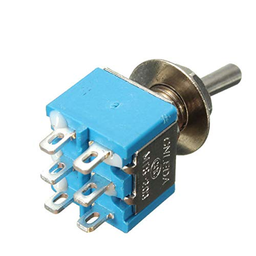 Wooya 5Ps 6-Polig 3 Position 3A 250V/6A 120V On/Off/On Schalter -
