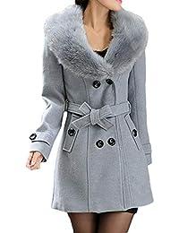 cappotti grigi donna pelliccia