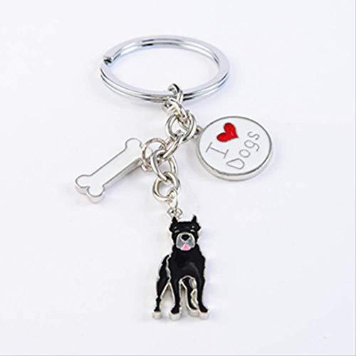 Cane Corso Hund schlüsselanhänger für männer Frauen Silber Farbe metalllegierung Hund anhänger Tasche Charme Auto schlüsselbund schlüsselanhänger Halter schmuckstück