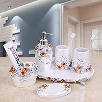 SUOVK Portacepillos Artículos para El Hogar Conjuntos De Baño Botellas De Loción De Resina Soportes para