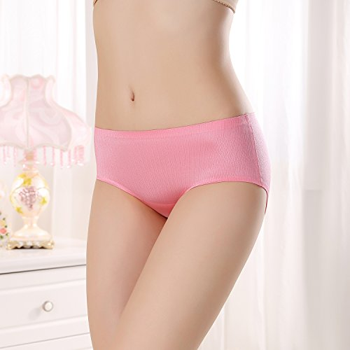 FZmix New Arrival Women'S Sexy Ice Silk Panties Seamless Panty Briefs Underwear Intimates Panties Rose Red