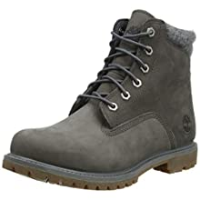 Timberland Women's Waterville 6 Inch - Basic Waterproof Lace-up, Grey Nubuck, 6 UK 39 EU