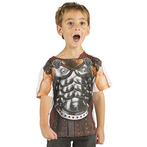 Gladiator Fun T-Shirt Jungen Kostüm Shirt Kinder für Party und Karneval - 2 (Gladiator Kostüme Girl)