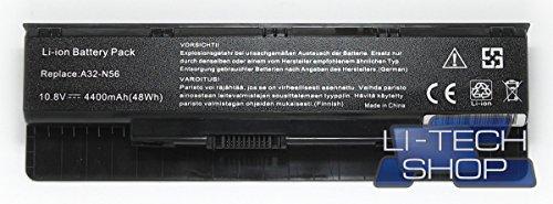 Foto LI-TECH Batteria Compatibile per ASUS N56VZ-S4033X 6 Celle Nero Computer PILA Nuova 48Wh