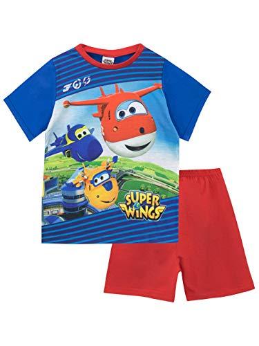 Super Wings Pijamas Manga Corta niños Azul 3-4 Años