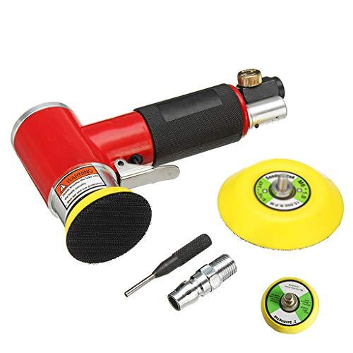 MMLC Neue Mini Air Sander Kit Pneumatische Schwingschleifer Auto Polierer Poliermaschine (Rot)