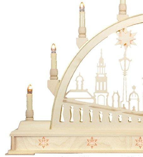 Candle Arch - Iglesia de Dresde con la base - los 78cm x 45 cm / 31 x 18 pulgadas - Seidel