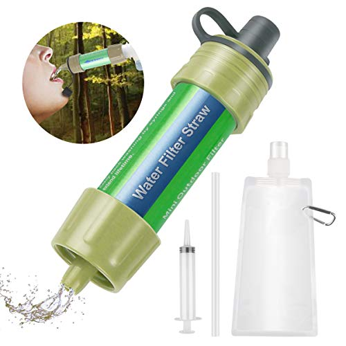 Etmury Wasserfilter Outdoor ,Mini Wasserfilter für Outdoor Camping ,Outdoor Wasserfilter,Wasserfilter Camping Wandern Reise Notfall Bereitschaft Outdoor-Lebensrettende Wasserfilter,5000L