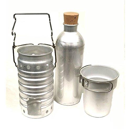 ALUMINIUM Schweizer Armee Aluflasche (KEIN Plaste) (Aluminium Schweizer-wasser-flasche)