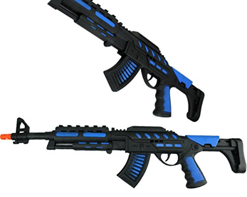 Blue Camo Weapon XXL Rattergewehr Spielzeuggewehr Spielzeug Gewehr mit Ratter-Sound (Spielzeug Gewehr Black Ops)