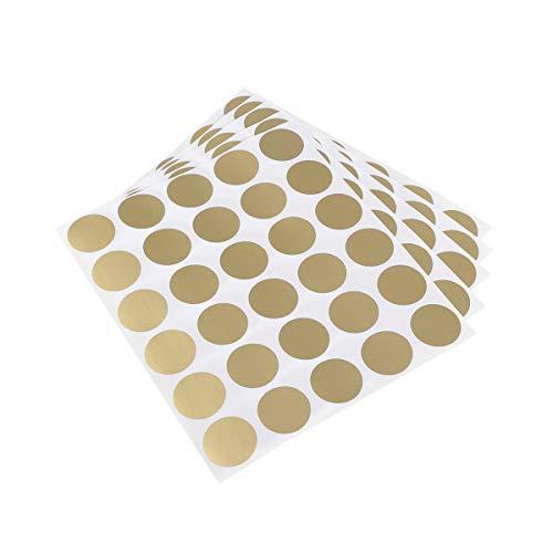 STOBOK 5 stücke Scratch-Off Aufkleber rundkratzer Etiketten Selbstklebende schälen und Stick DIY Kreis Etiketten für Hochzeit Spiele und Geschenk Notizen (Goldene)