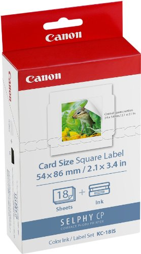 *Canon KC-18 IS 5,4 x 5,4 cm Sticker-Papier für Selphy Drucker*