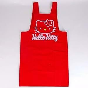 hello kitty tablier de cuisine femme rouge pur cuisine maison. Black Bedroom Furniture Sets. Home Design Ideas