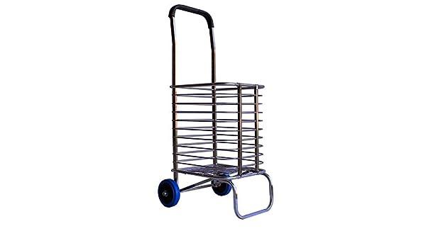 Shopping Cart with Wheels Shopping Cart Rubber Wheel Shopping Cart Groceries ZSLLO Shopping Cart with Wheels Groceries Color : A Trolley