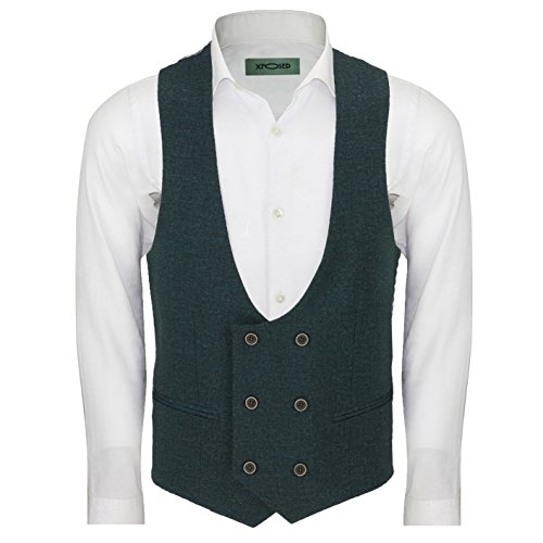 Xposed - Costume - Homme * Auditor's Target Value Waistcoat-U Neck-Green