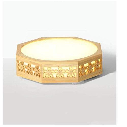 Deckenleuchten Lampen Kronleuchter Pendelleuchten Retro Lichthollow Einfache Moderne Zeitgenössische Led Deckenleuchte Massivholz Creative Schlafzimmer Lampe Holz Lampe Möbel Holz Lampe 450 * 450Mm, -