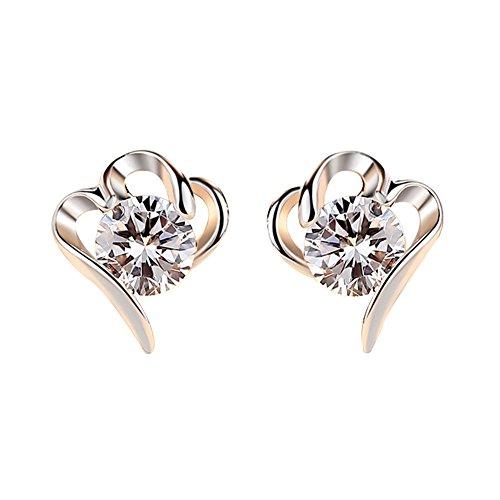 AIUIN Paar Ohrringe Stil Strass de Coupe De Coeur de Mode für Frauen Zubehör Ohrringe Frauen Elégance Mode Ohrringe-Stil neue Elegance Coupe