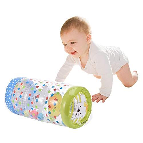 *Aufblasbare Babyroller Neugeborenen Krabbelrolle Und Stehtraining – Training Baby Steps Das Perfekte Sensorische Spielzeug Für Die Frühe Entwicklungsaktivität Zentrum Des Babys- (43x24cm) / (200g)*