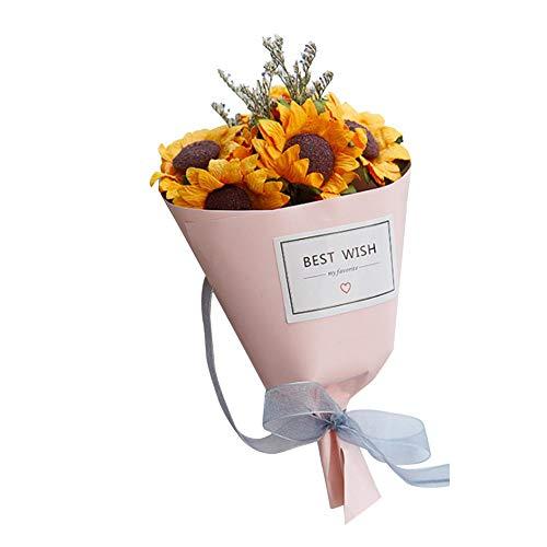 Wovemster fiori finti, artificiali di decorazione finti nozze plastica san valentino bouquet da sposa per la casa giardino disposizione dei(3)