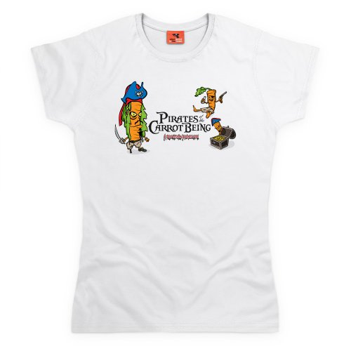 Pirates Of The Carrot Being T-Shirt, Damen Wei