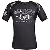 Dirty Ray Rugby New Zealand All Black camiseta rashguard hombre RG9 (M)