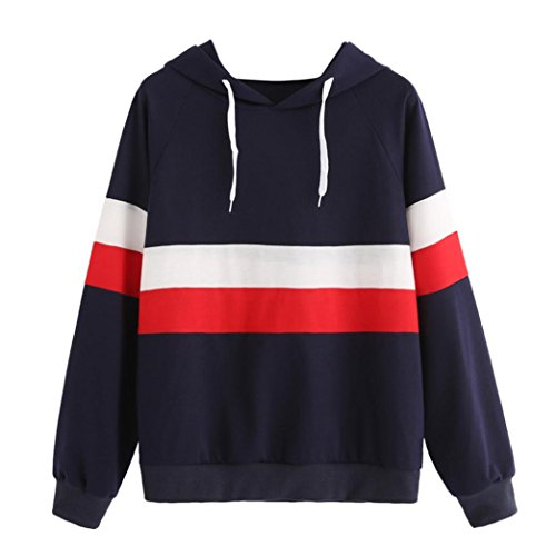 Sweatshirt Femmes Angelof Pull Filles Sweatshirt Femme A Capuche Automne/Hiver Manches Longues Hoodie Jumper Marine Chic Soldes Pullover Tops (S)