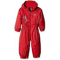 Trespass Drip Drop - Chubasquero Acolchado, Color Rojo, bebé, Color Rojo - Rojo Brillante, tamaño Talla 18-24