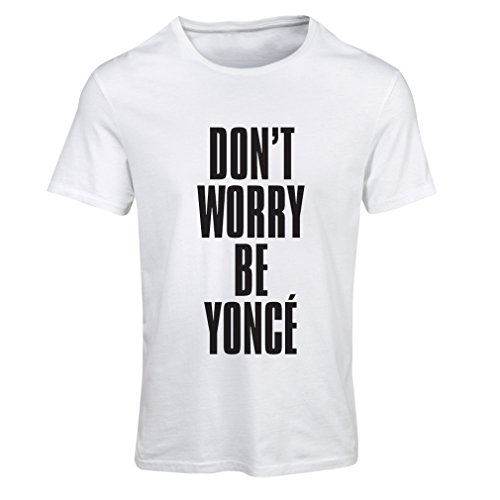 Maglietta Donna Non preoccuparti! Come essere felici, grandi citazioni, famosi detti positivi Bianco Nero