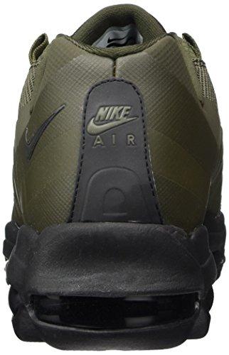 Nike Air Max 95 Ultra Essential, Hombre Entrenadores Verde (cargo Caqui / Negro / Negro)