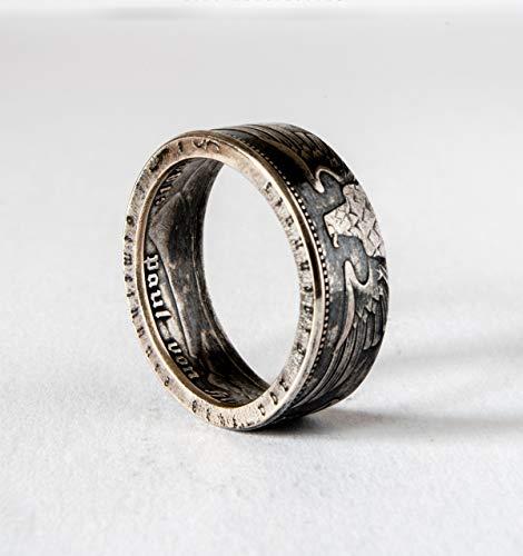 Sterling Silber Deutsches Reich, Pride Ring, handgemachtes Siegel, Schmuck, Promise-Ringe, Verlobungsring, Ehering, Geschichtsring II WW, Paul von Hindenburg