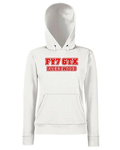 T-Shirtshock - Sweats a capuche Femme WC1035 fleetwood-town-postcode-tshirt design Blanc
