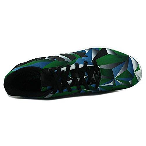 Adidas Zx Flux Synthétique Baskets Ftwwht-Cblack-Ftwwht